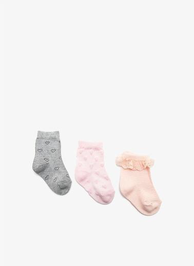 Koton 3'lü Çorap Pembe